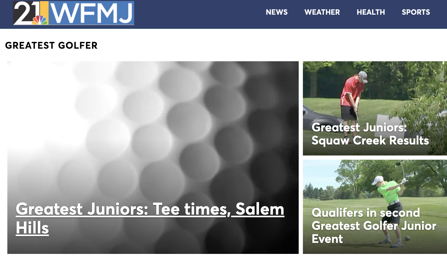 WFMJ has Thursday tees for Salem Hills juniors